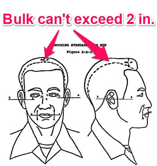 navy hair bulk regulations - males