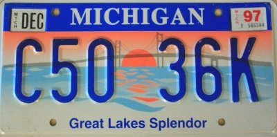 sample michigan license plate