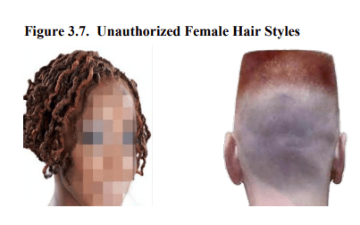 unauthorized female hair styles - air force