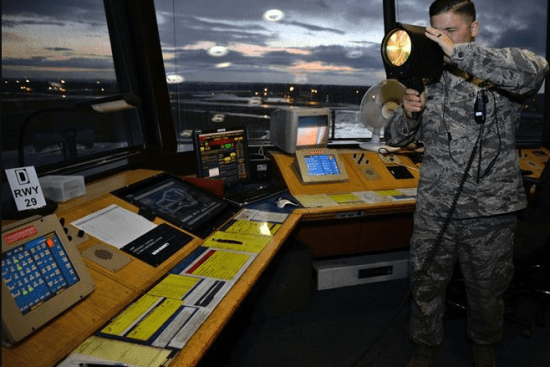 an Air Traffic Controller at work
