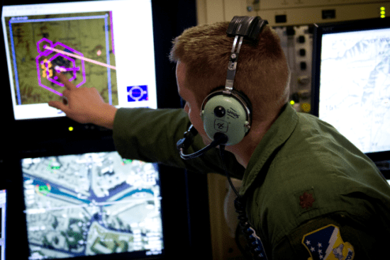 an Remotely Piloted Aircraft Pilot at work