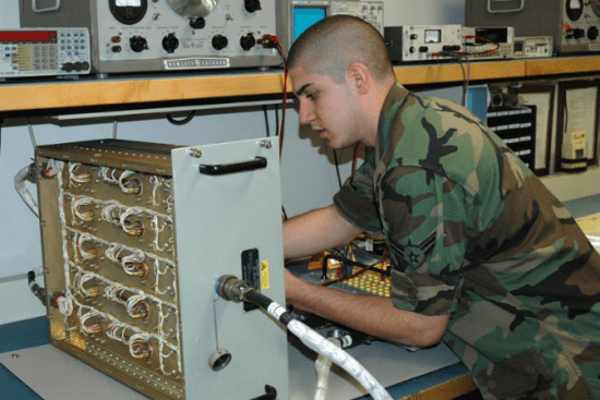 an Missile & Space Systems Electronic Maintenance at work