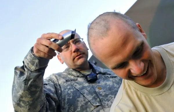 army buzz cut
