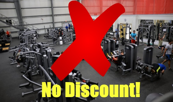 gyms without military discounts