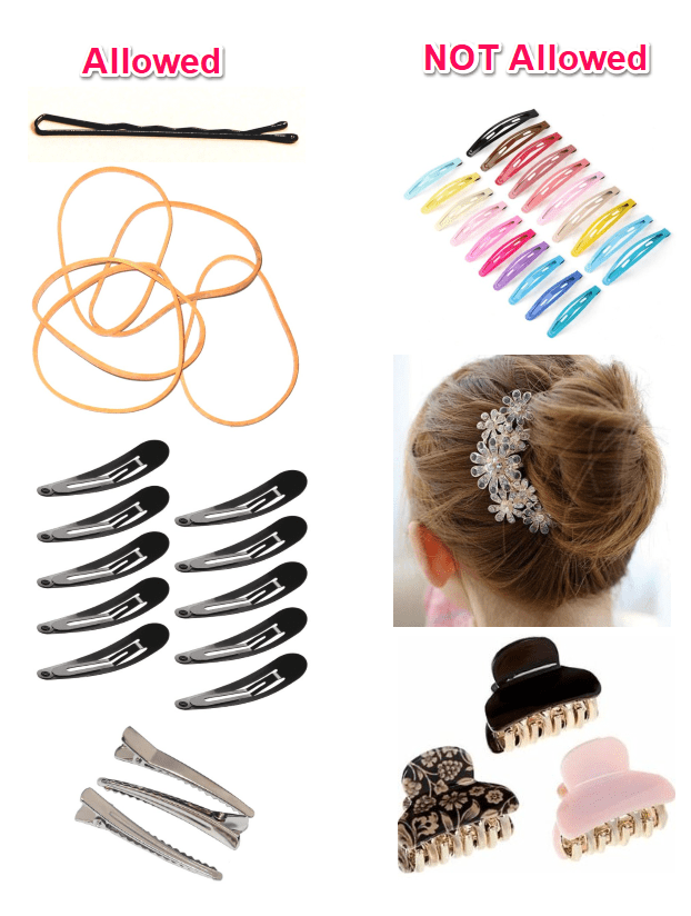 hair accessories allowed and prohibited in the army