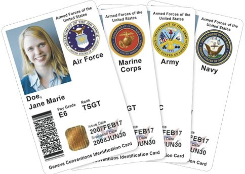what a valid active duty military id looks like