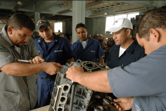 an Machinery Technician at work