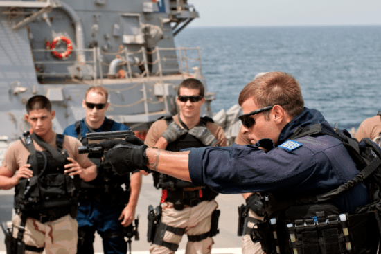 an Maritime Law Enforcement Specialist at work
