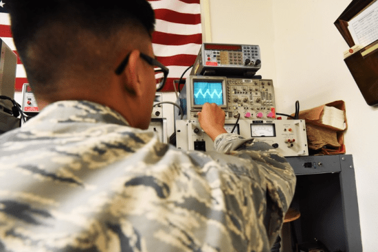 an Radio Communication Security Repair at work