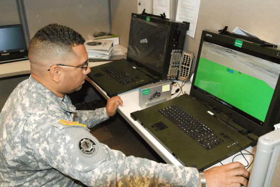 an Geospatial Engineer at work