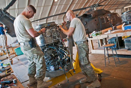 an Aircraft Powerplant Repairer (15B) at work
