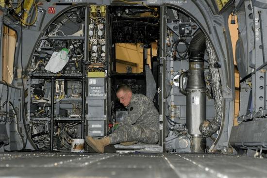 an Aircraft Powertrain Repairer (15D) at work