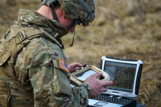 an Visual Information Equipment Operator – Maintainer at work