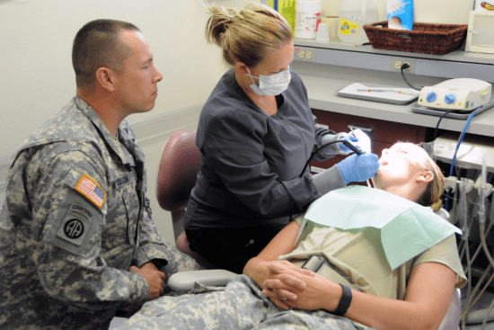 an Dental Specialist at work