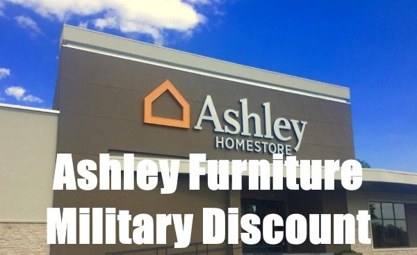 ashley furniture military discount