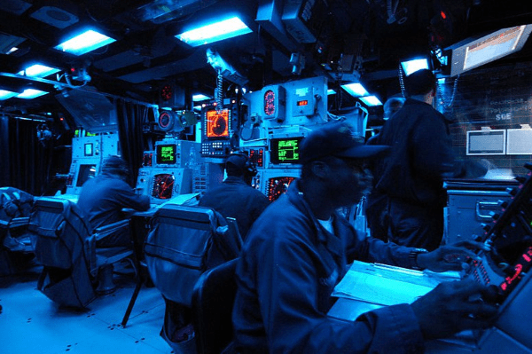 navy operations specialist at work