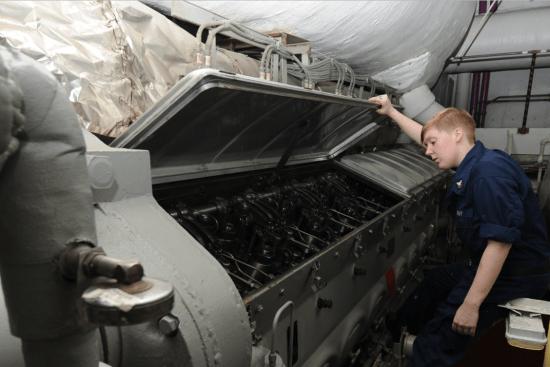 an Engineman at work