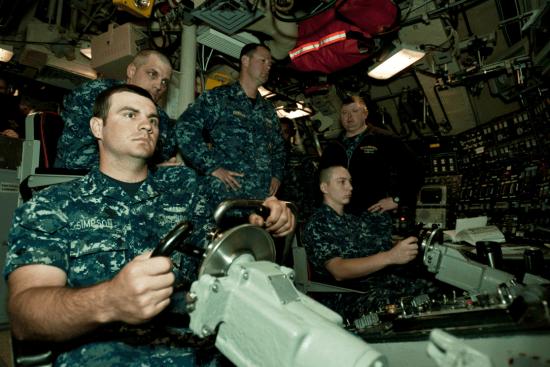 an Logistics Specialist - Submarines LS at work
