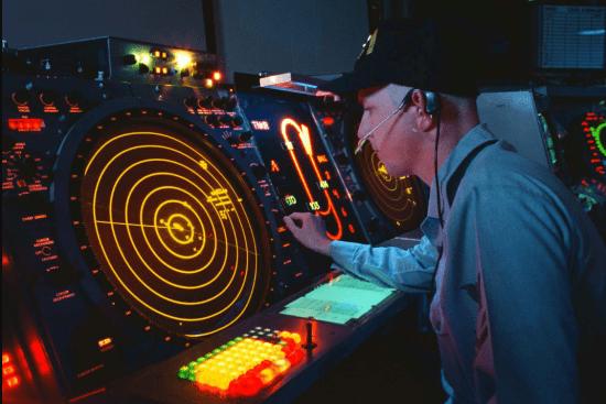 an Air Traffic Controller at work