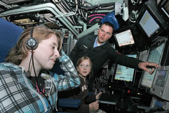 an Sonar Technician at work