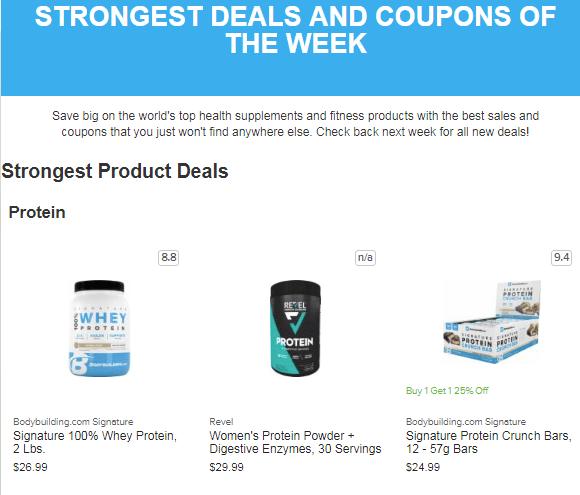 bodybuilding.com deals and specials
