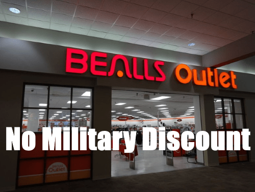 does bealls have a military discount