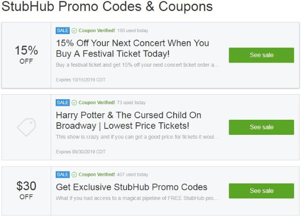 groupon stubhub coupon codes