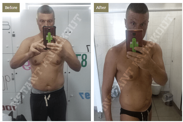 instant knockout before and after picture - costas