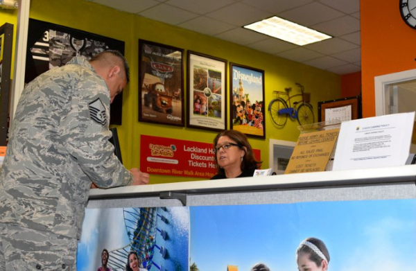 military ticket and travel office