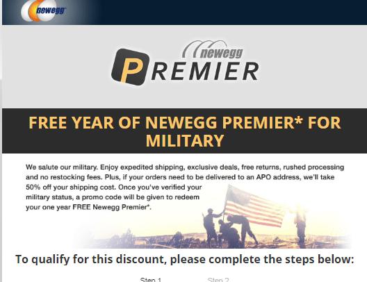 newegg premier for military