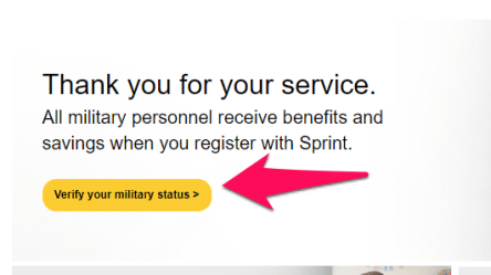 sprint verify military status