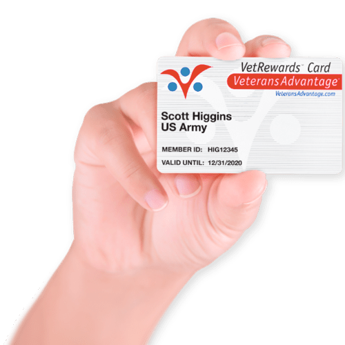 vetrewards card - veterans advantage
