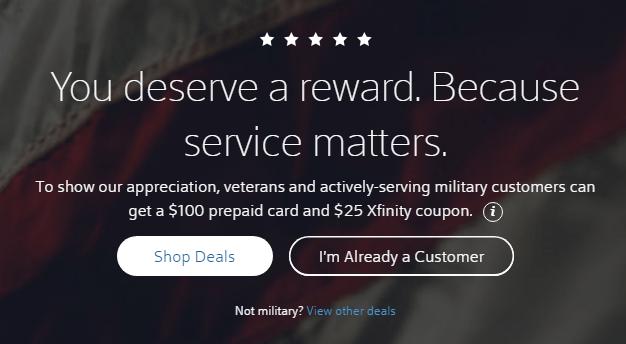 xfinity military discount