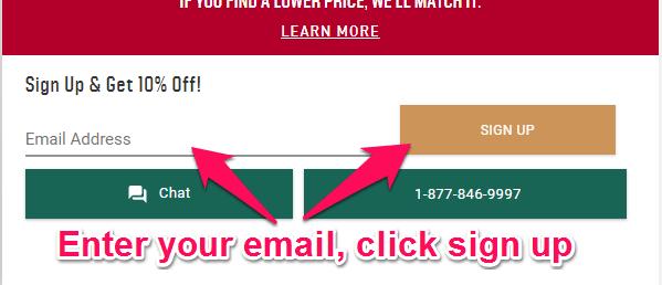 dicks newsletter signup