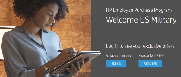 hp employee purchase program main page