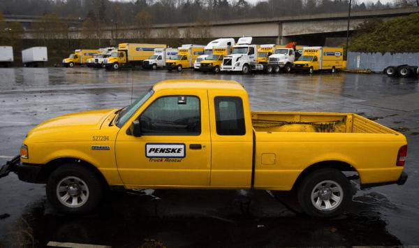 penske truck rental military discount