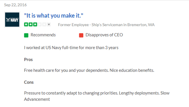 navy sh rate feedback