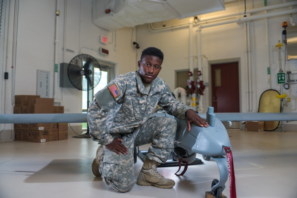 army drone pilot