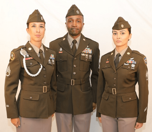 official army greens uniform