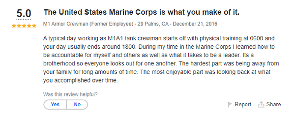 Marine Corps M1A1 Tank Crewman