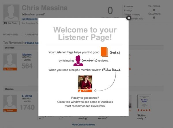 Audible Listener Page