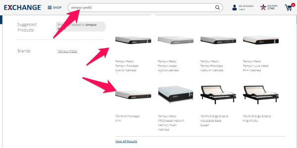 tempurpedic mattress search on the exchange