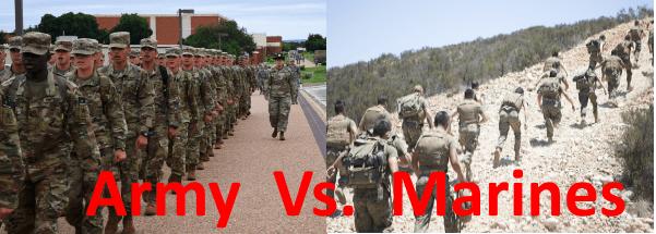 army vs marines
