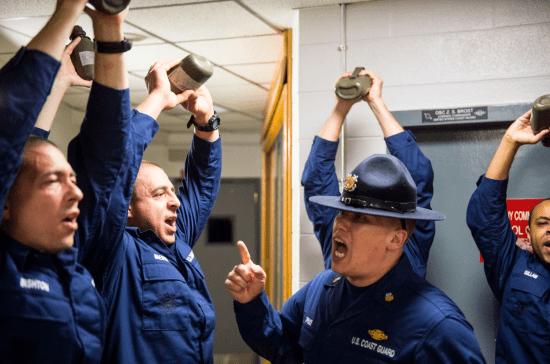 coast guard boot camp drill instructor