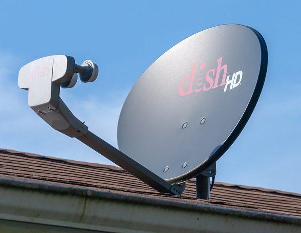 Dish Network HD satellite dish (DISH 1000+) with a western arc LNB.
