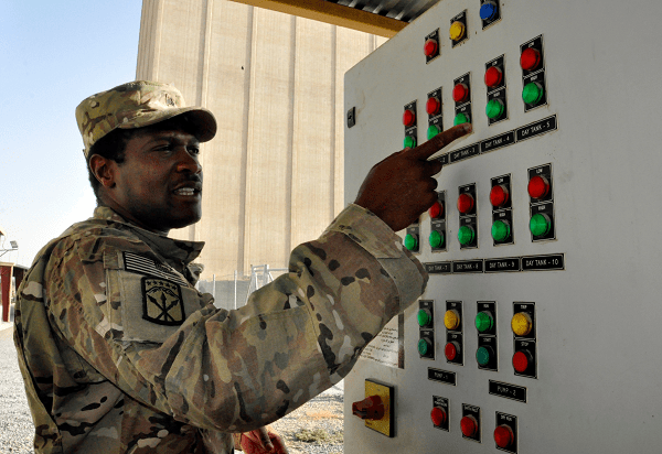 12P MOS Soldier at Bagh-E Pol power plant