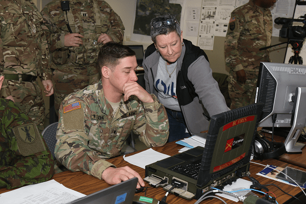 13 D MOS Specialist Learns how to use ASCA Software