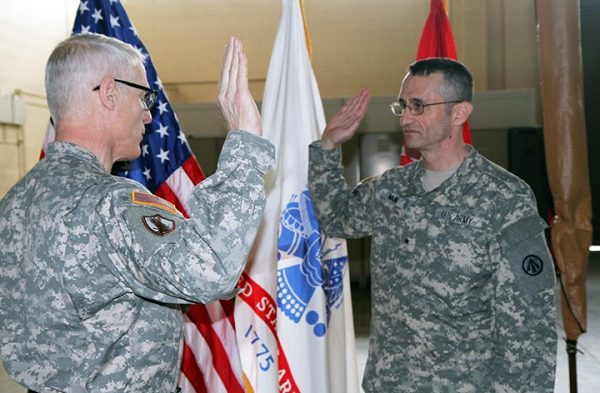 Army Promotion timeline_commander earns first star at promotion ceremony