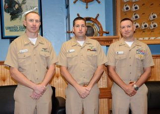 Three members promoted to master chief petty officer