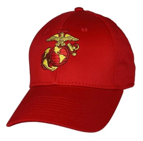 marine corps red anchor globe ball cap